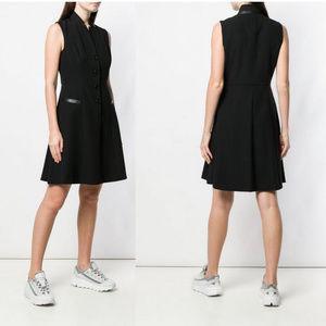 DKNY NWT Black Tuxedo Button Up A-Line Dress